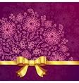 Vinous vintage flowers background vector image vector image