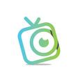 watch tv vector image vector image