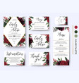 wedding invitation save date rsvp design set vector image vector image