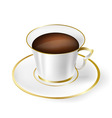 white cup with black coffee vector image vector image