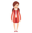 working girl on white background vector image