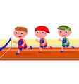 young runners competition vector image vector image