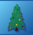 icons with christmas tree with decorations for vector image