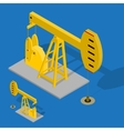 Oil Pump Energy Industrial on a Blue Background vector image