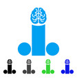 male penis brain icon vector image