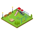 Outdoor Playground Isometric View vector image