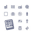 13 media icons vector image vector image