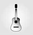 Acoustic guitar is simple colors vector image