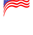 american flag wave background frame vector image vector image