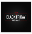 black friday logo design background vector image