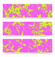 bright dotted pink and green cards collection vector image vector image