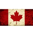Canadian flag Grunge background vector image vector image