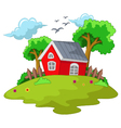 cartoon house for your design vector image