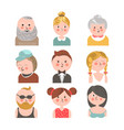 cheerful people and sad girl vector image vector image
