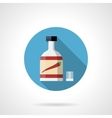 Chili sauce bottle round flat color icon vector image