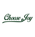 choose joy hand lettering inscription positive vector image vector image