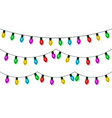 christmas lights string set color garland vector image vector image