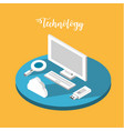 computer technology with data services connect vector image vector image