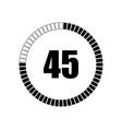 countdown digital timer vector image vector image