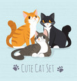cute kitty cat vector image vector image