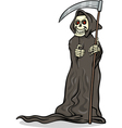 death skeleton cartoon vector image