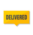 delivered price tag vector image vector image