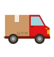 delivery truck van isolated icon vector image vector image