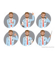 doctor character set of poses vector image