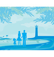 family on tropical vacation vector image vector image