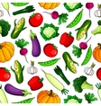 Farm vegetables seamless pattern background vector image vector image
