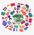 fashion boutique big sales mega sale hand-drawn vector image