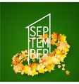 First September with Autumn leaves Background vector image vector image