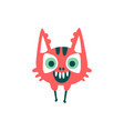 funny red cartoon monster fabulous incredible vector image vector image