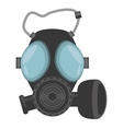 gas mask respiration protective vector image vector image