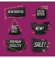 geometric trendy sale banners labels tags vector image vector image