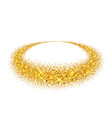 gold circle light glitter effect golden ring vector image vector image