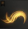 golden swirl transparent white light effect vector image vector image