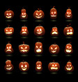 halloween pumpkins cartoon scary carving pumpkin vector image