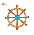 handwheel or steering wheel symbol of a cruise vector image vector image