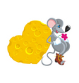 in love the mouse copy vector image vector image