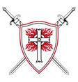 knightly design crusader knight shield with vector image vector image