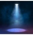 Lantern floodlight spotlight illuminates wooden vector image vector image