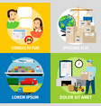 logistics concepts worldwide logistic network vector image vector image