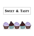logo sign style for the confectionery bakery vector image vector image
