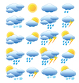 Meteorology set vector image