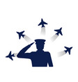 military office shape and airplane vector image vector image