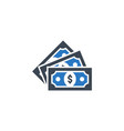 money related glyph icon vector image vector image