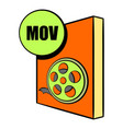 Mov file icon cartoon