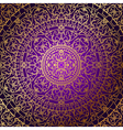 oriental purple background with gold ornament vector image vector image