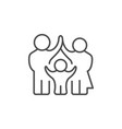 parents and child line outline icon vector image vector image